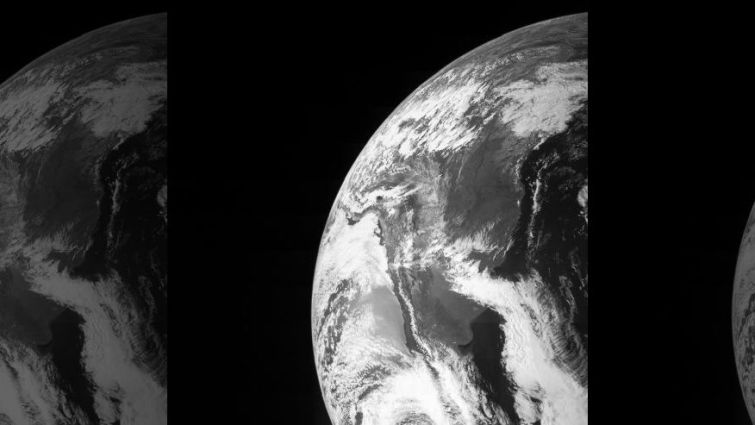 view of earth from nasa satellite